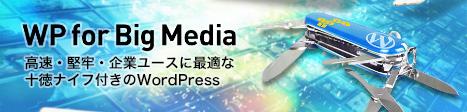 大規模サイト向けWordPressサイト構築『WP for big media』