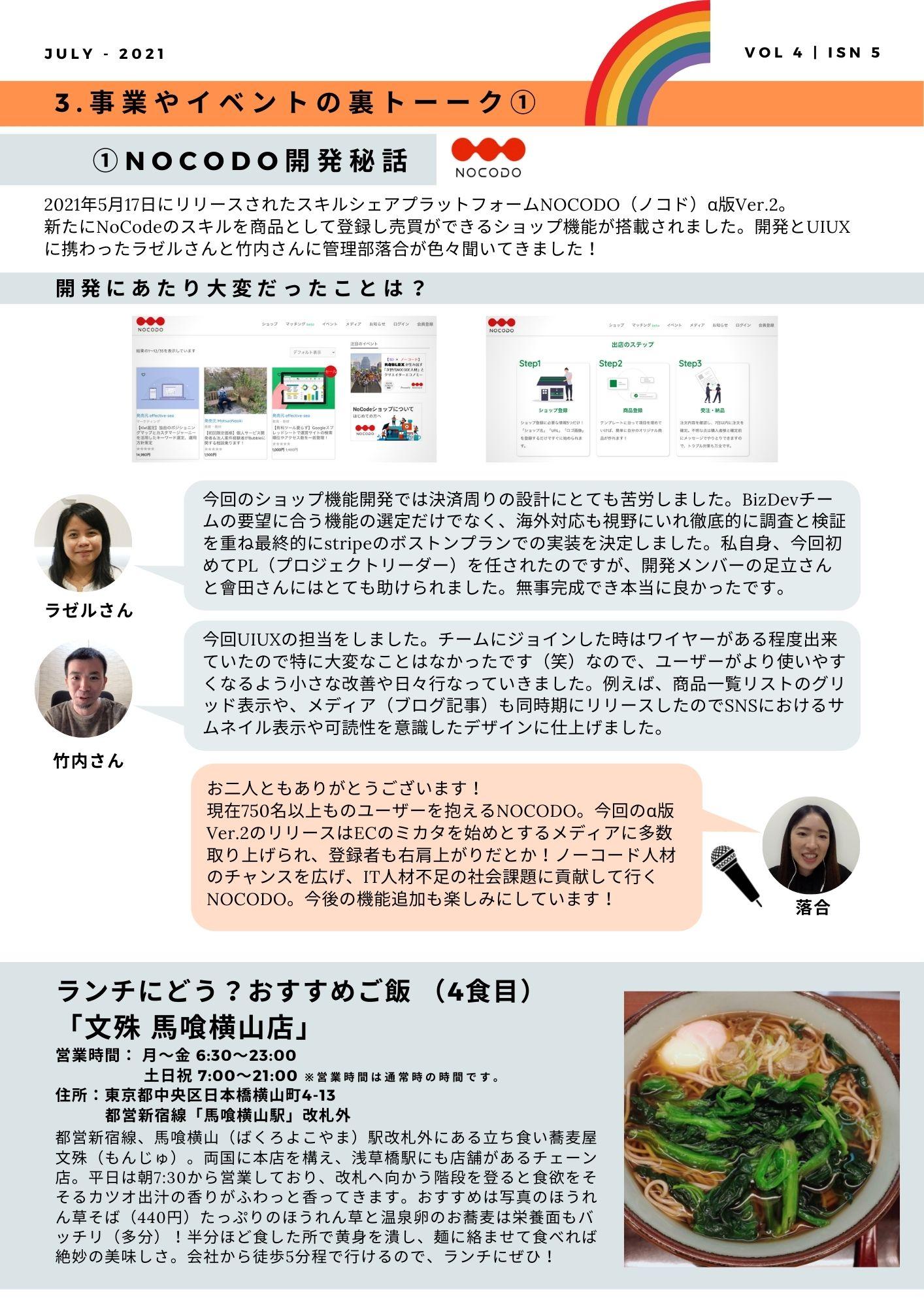 社内報/NOCODO開発秘話インタビュー