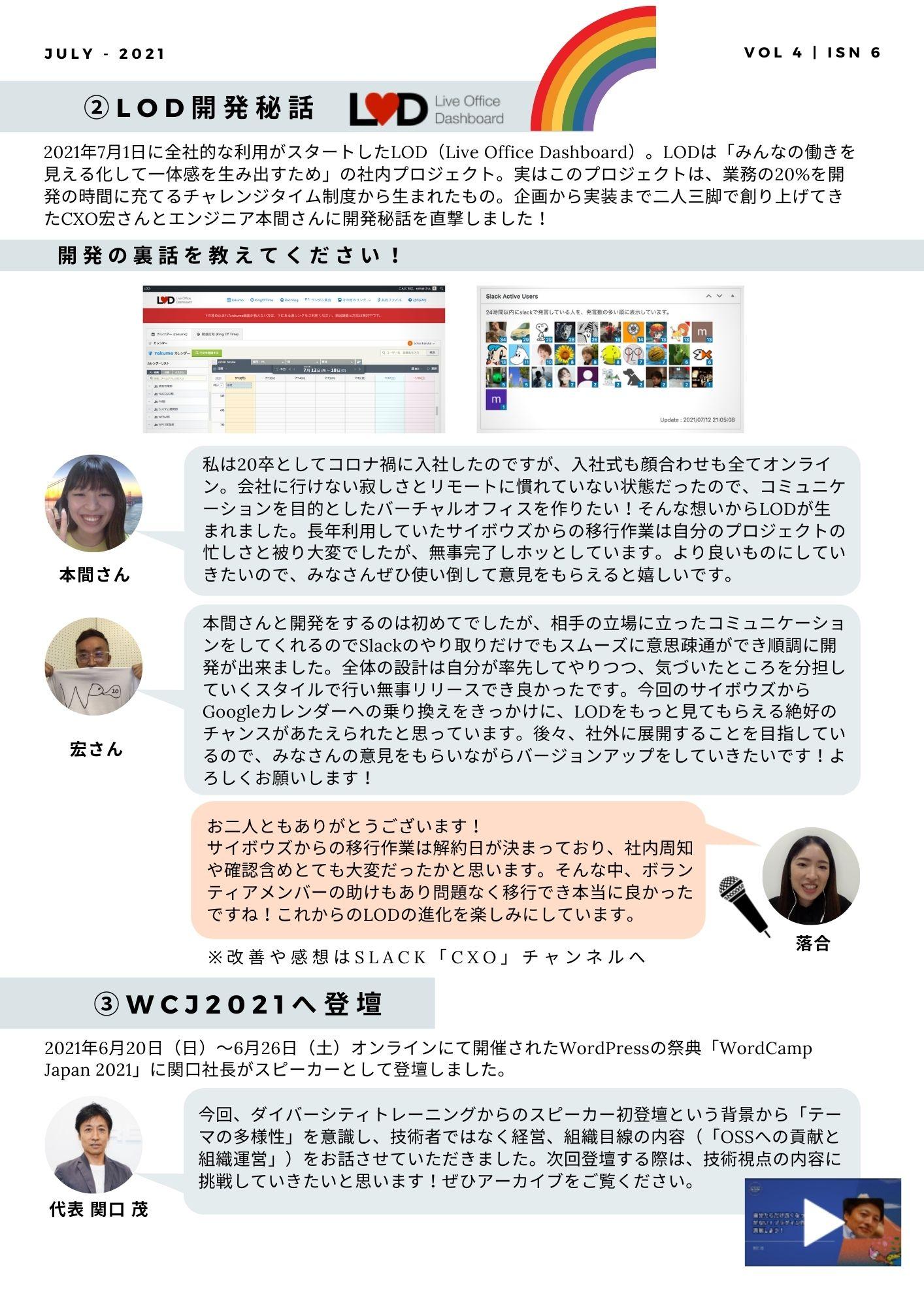 社内報/LOD開発秘話インタビュー